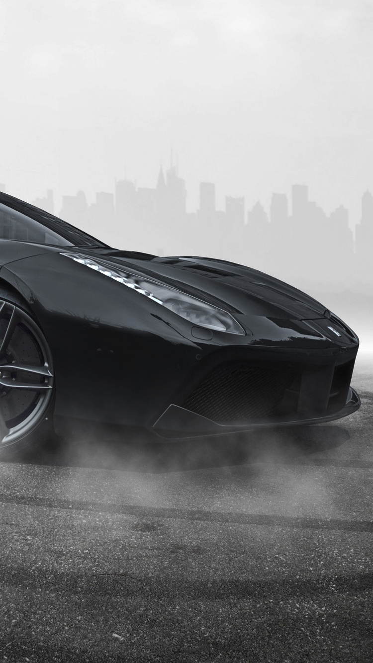 750x1334 Ferrari 488 Black Iphone 6 Iphone 6s Iphone 7 Hd 4k Wallpapers Images Backgrounds Photos And Pictures