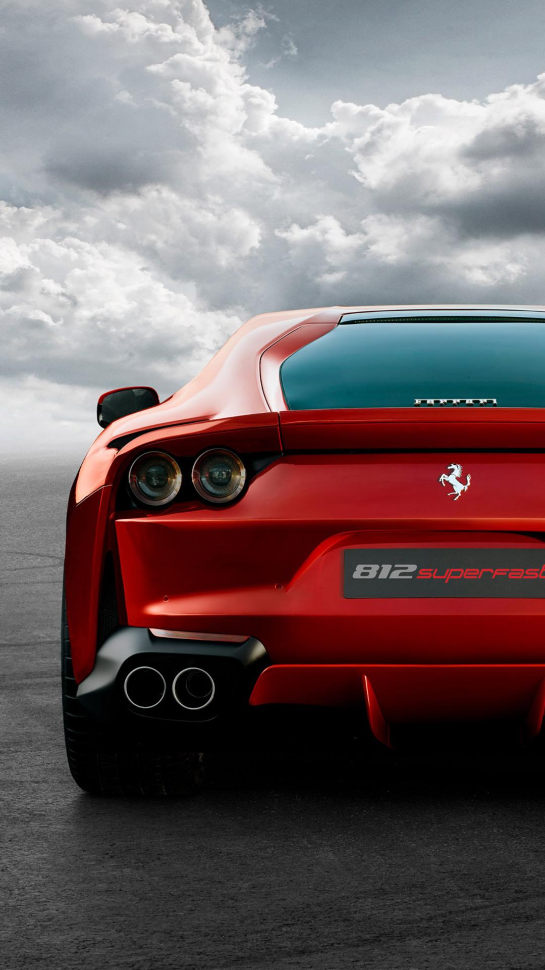 1080x1920 Ferrari 812 Superfast Rear Iphone 7,6s,6 Plus ...