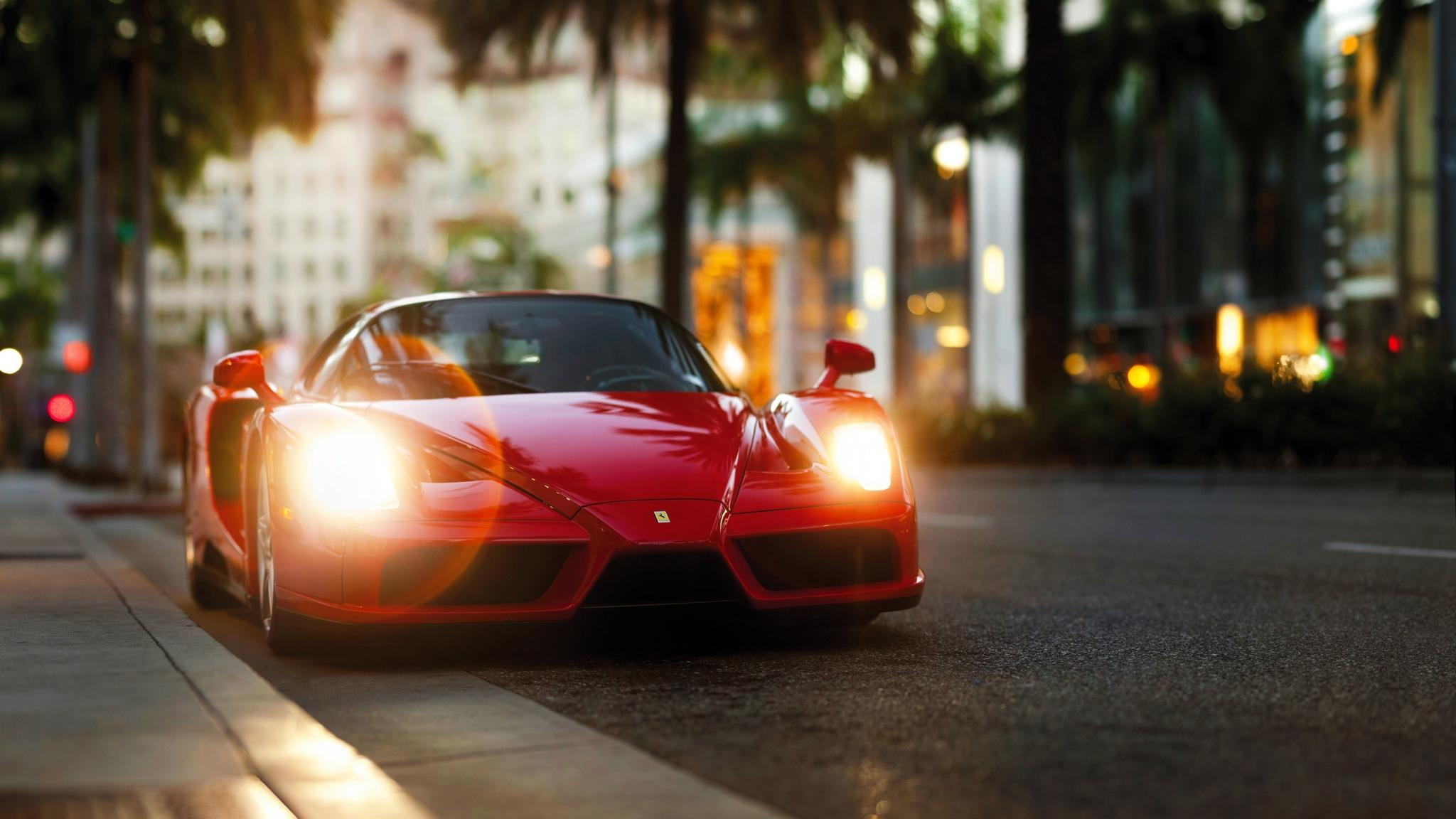 Download Red Black Ferrari 2048 X 2048 Wallpapers: 2048x1152 Ferrari Enzo Red 2048x1152 Resolution HD 4k