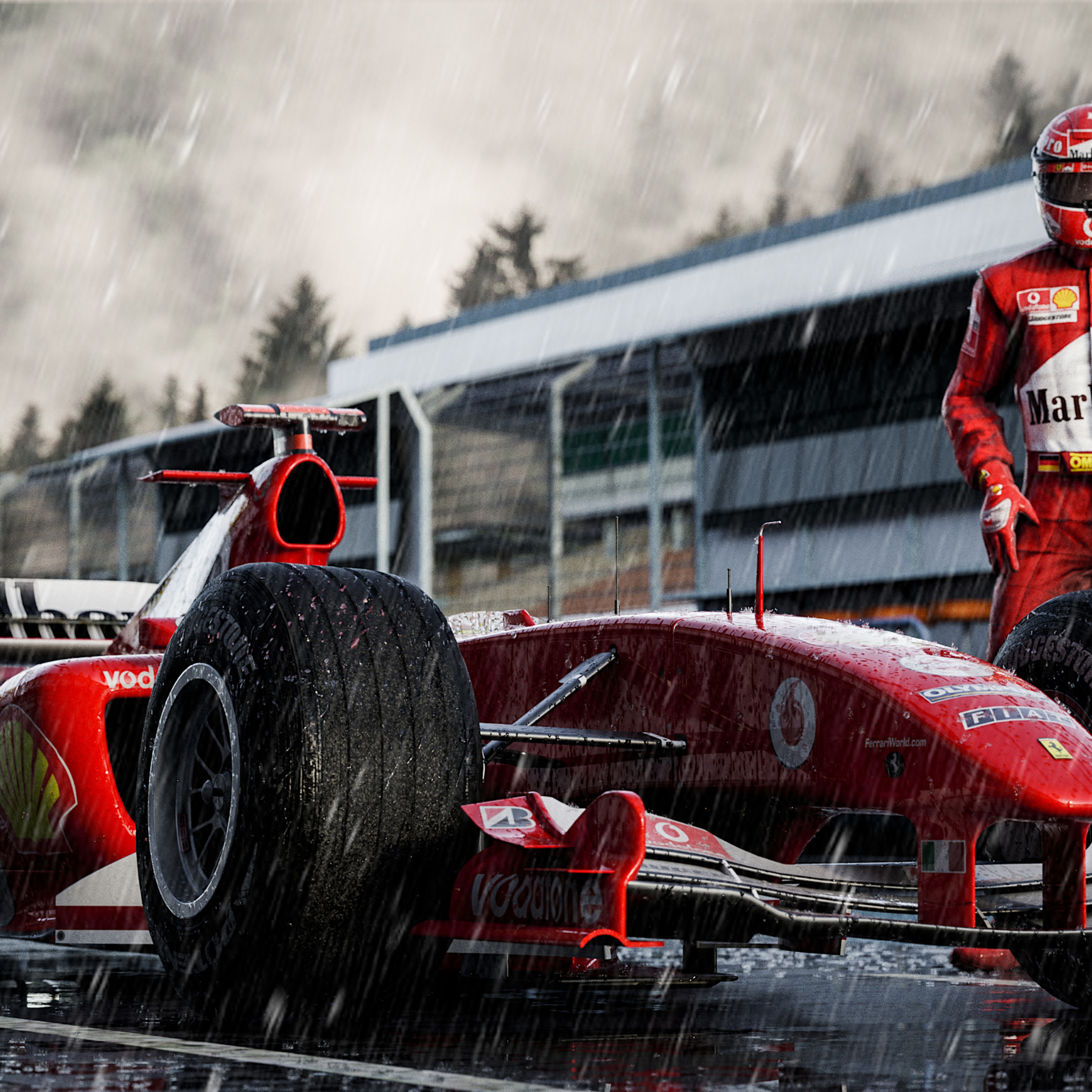 2932x2932 Ferrari F2004 Michael Schumacher Ipad Pro Retina ...