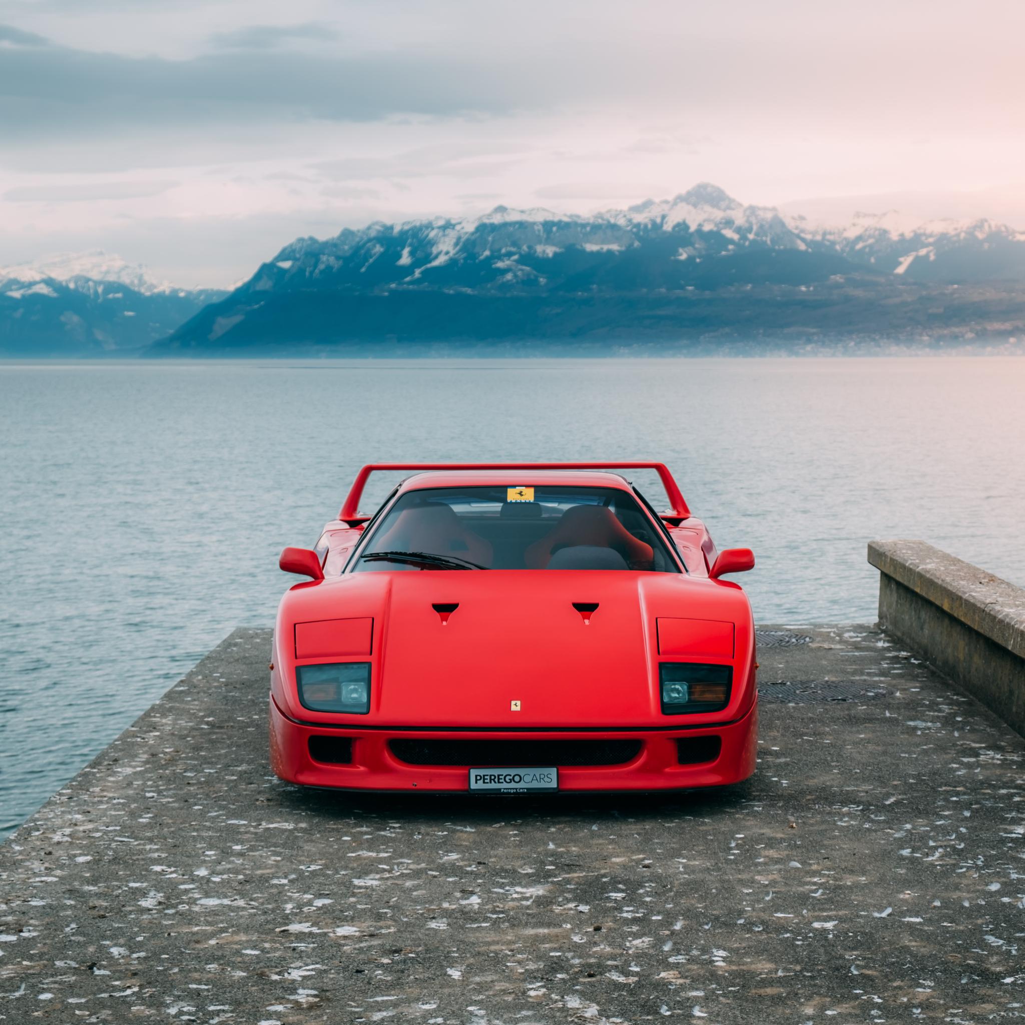 2048x2048 Ferrari F40 5k Ipad Air HD 4k Wallpapers, Images