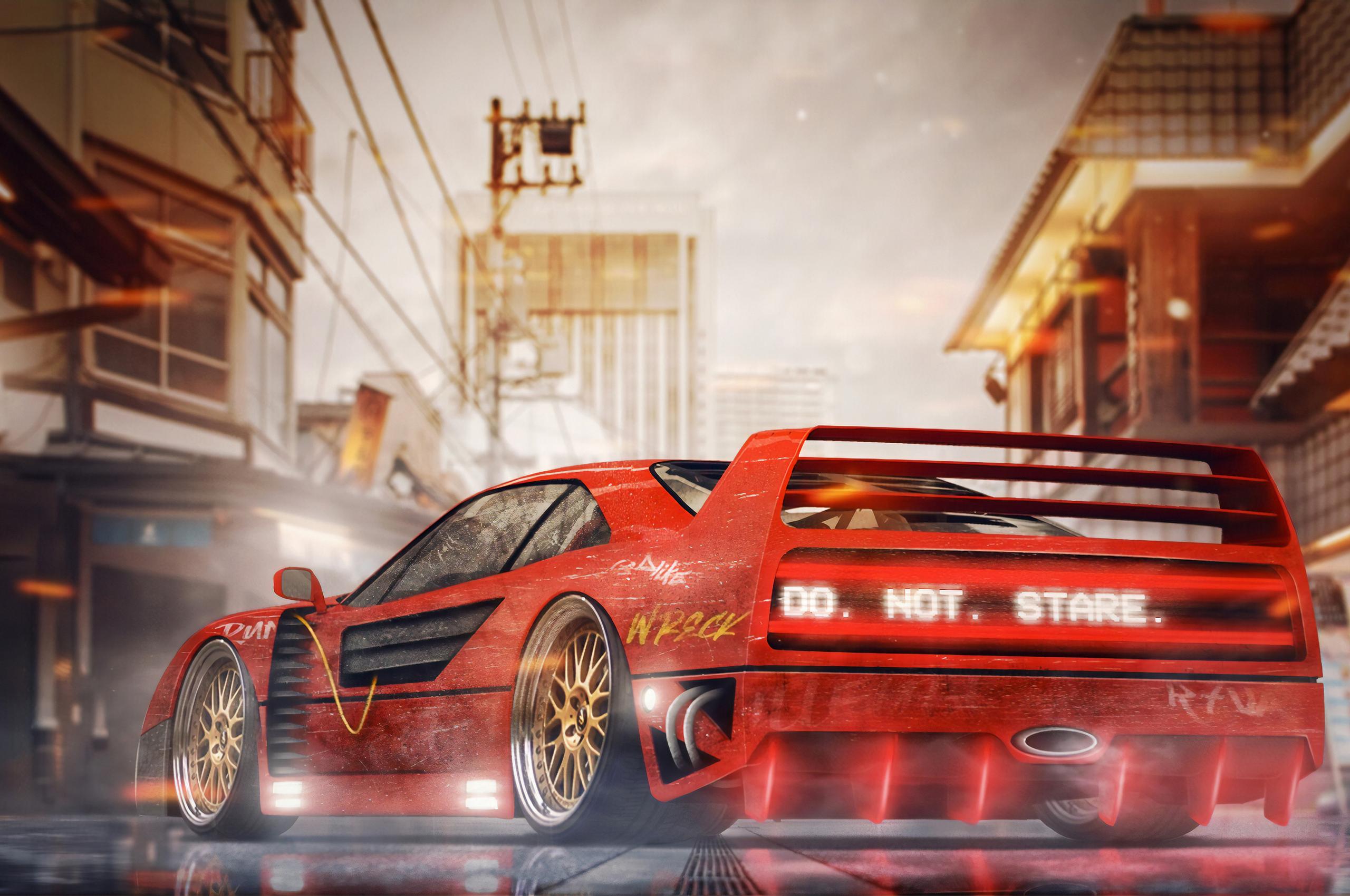 2560x1700 Ferrari F40 Digital Art 4k Chromebook Pixel Hd 4k