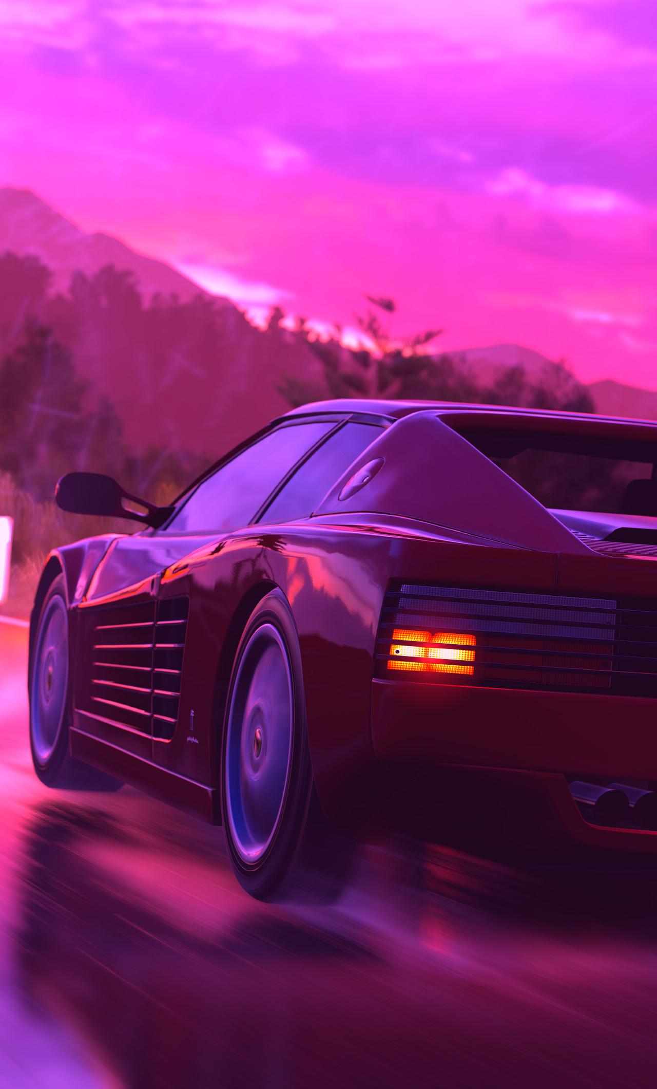 1280x2120 Ferrari Sports Car Retrowave Art 4k Iphone 6 Hd 4k Wallpapers Images Backgrounds 35 Quotes