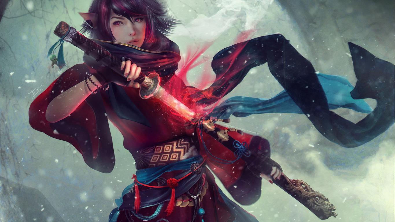 Final Fantasy Xv Characters Video Game 4k Hd Desktop: 1366x768 Final Fantasy Original Character 4k 1366x768