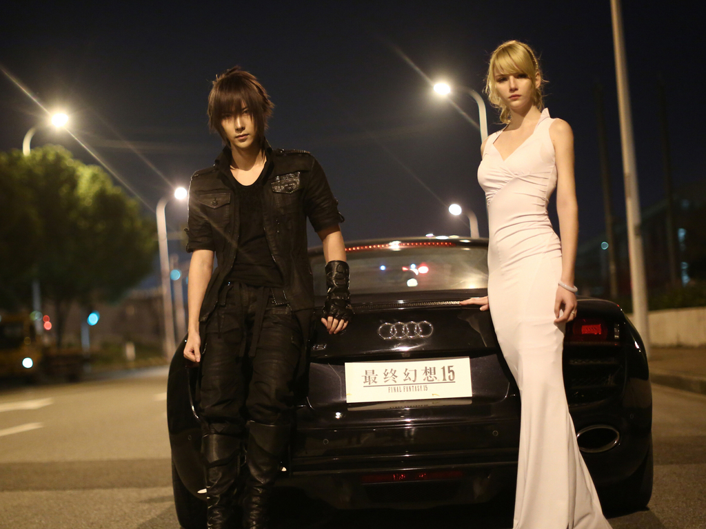 1024x768 Final Fantasy Xv Noctis And Luna Cosplay 1024x768