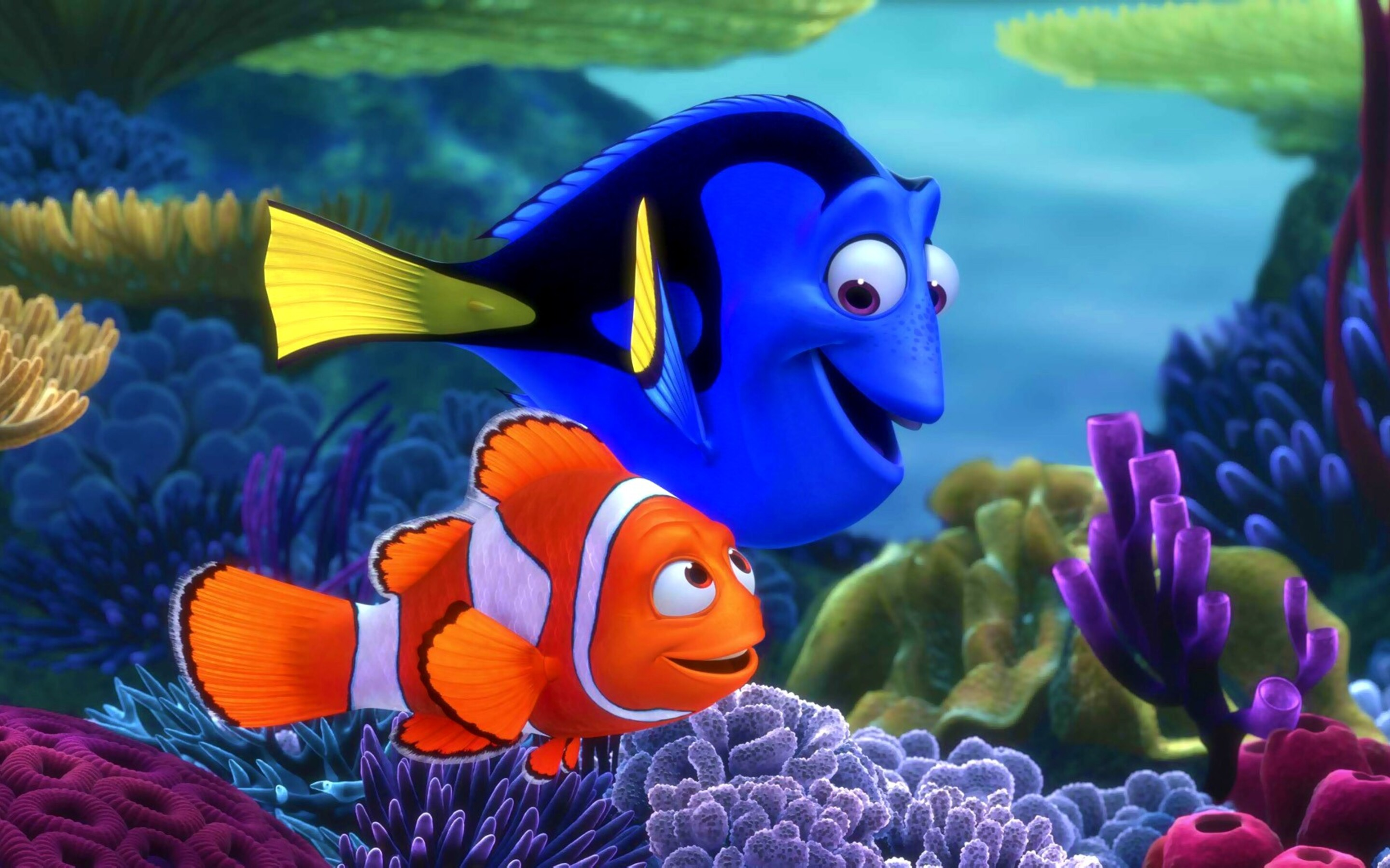 2880x1800 Finding Nemo Fishes Macbook Pro Retina HD 4k Wallpapers