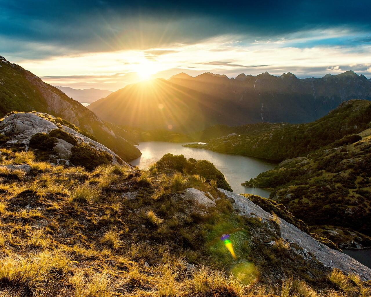 1280x1024 Fiordland Mountain Sunrise 1280x1024 Resolution Hd 4k