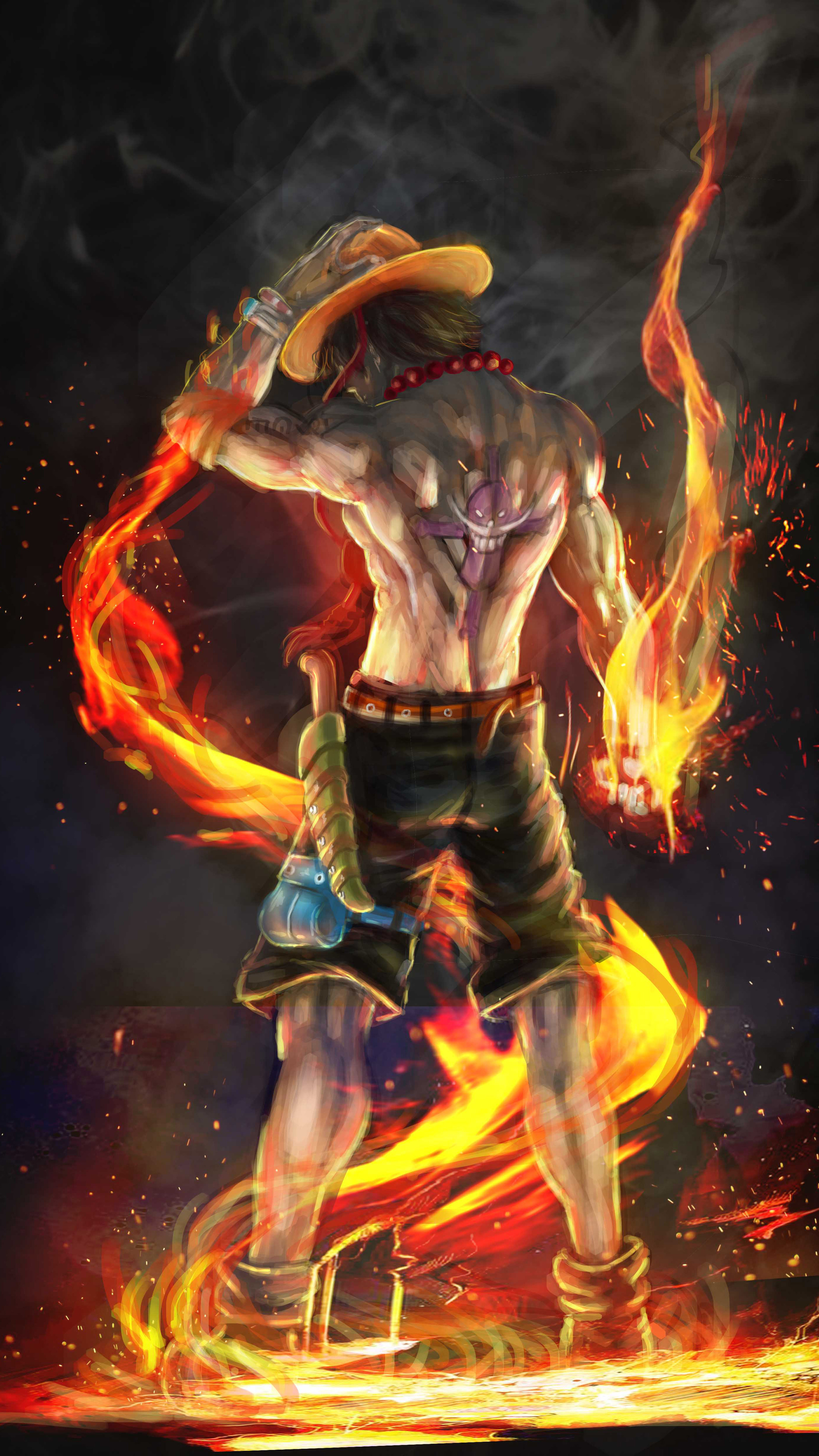 2160x3840 Fire Fist Ace 4k Artwork Sony Xperia X Xz Z5 Premium Hd 4k
