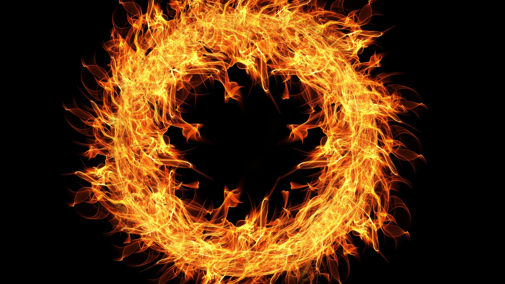 2048x1152 Fire Flame Ring 4k 2048x1152 Resolution Hd 4k Wallpapers