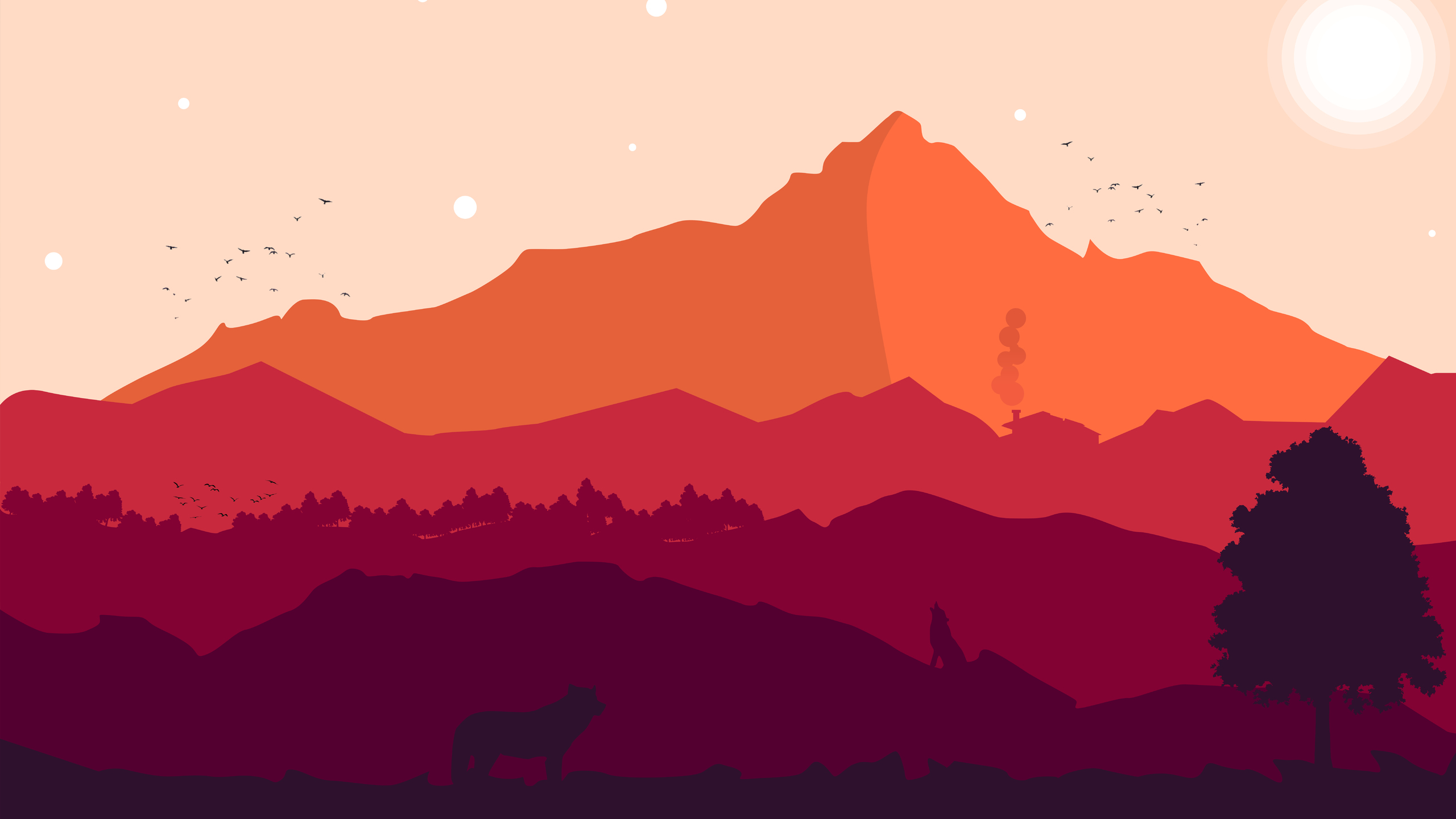 firewatch 2560x1440 resolution wallpapers 1440p resolution