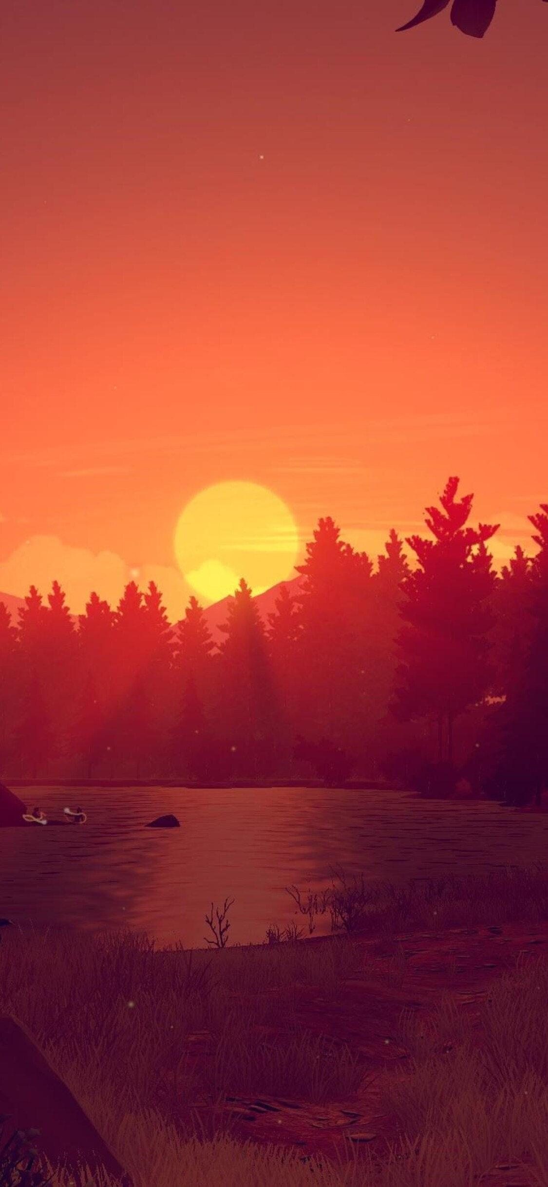 Firewatch Game Sunset (Iphone XS,Iphone 10,Iphone X)