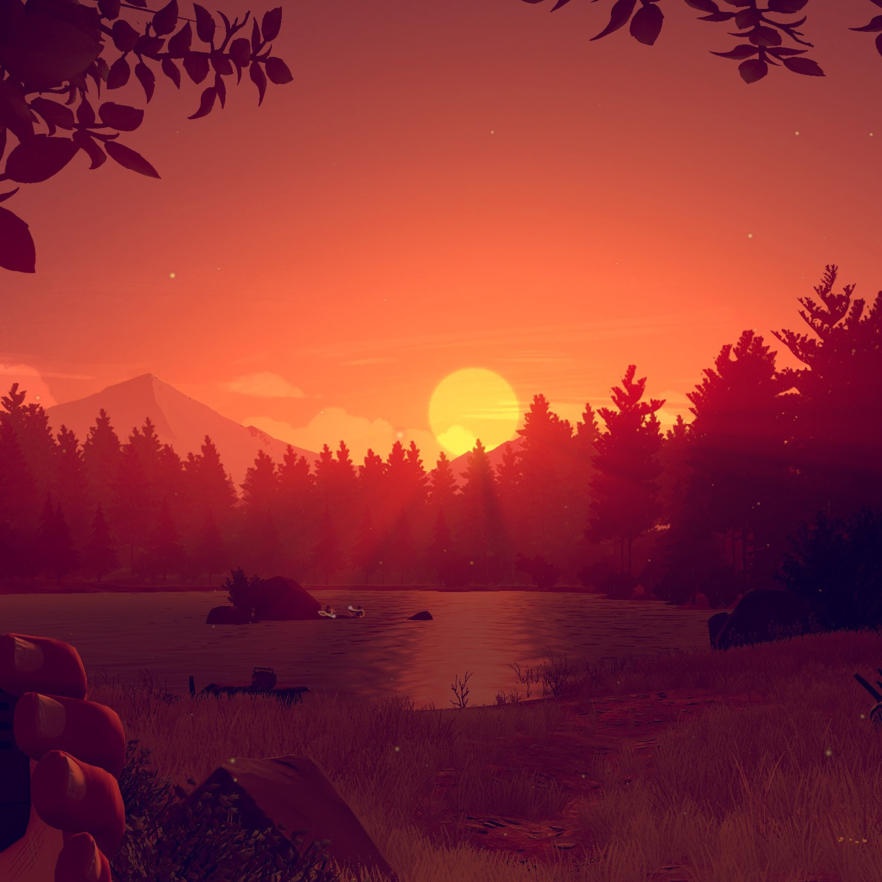 2932x2932 Firewatch Game Sunset Ipad Pro Retina Display HD