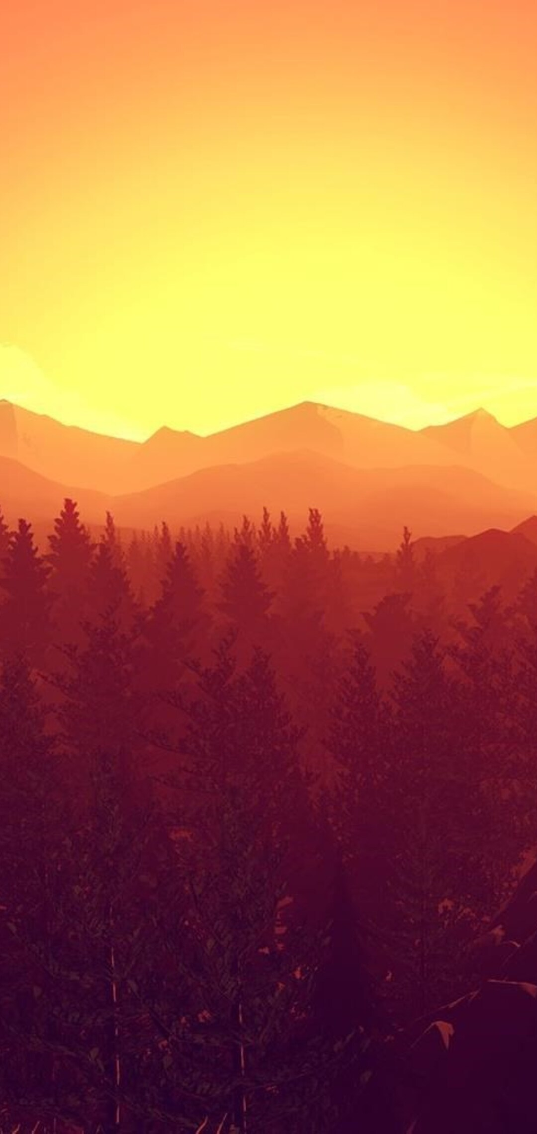 1080x2280 Firewatch Video Games One Plus 6huawei P20honor View 10
