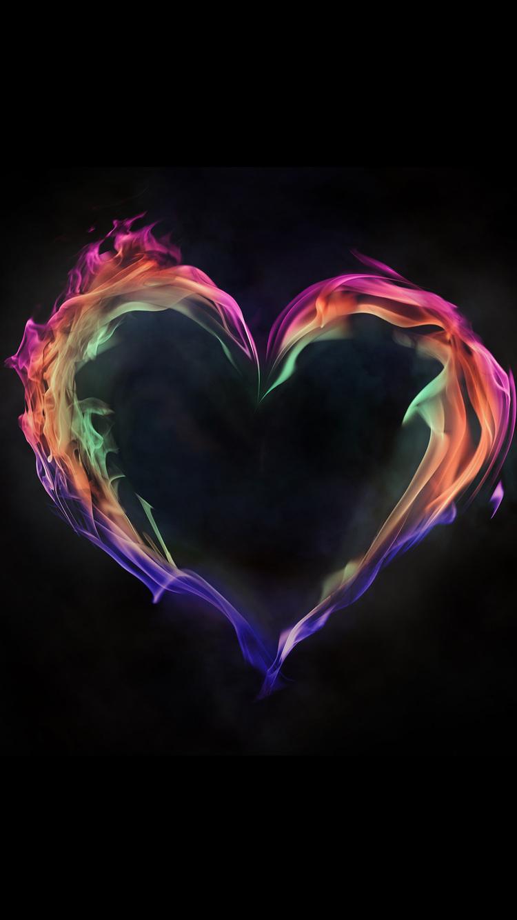 750x1334 Flame Artistic Heart Love 5k Iphone 6 Iphone 6s