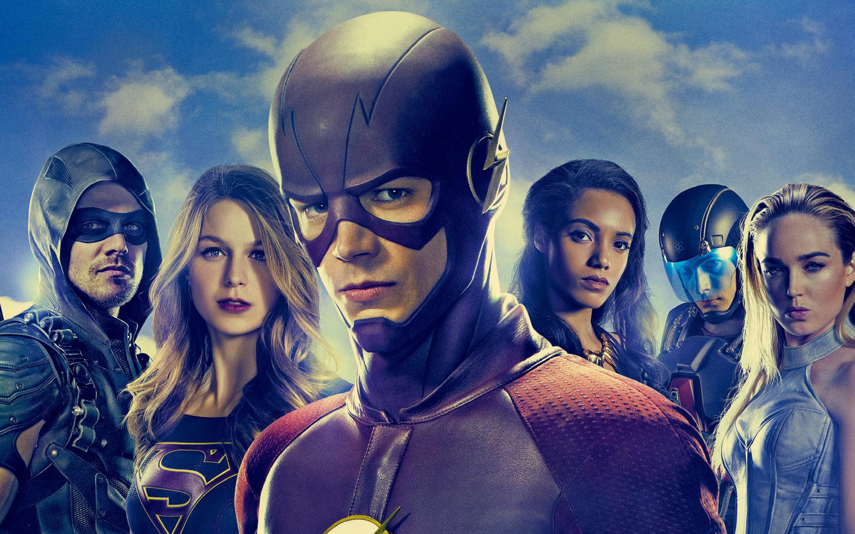 2880x1800 flash supergirl arrow tv series macbook pro retina hd 4k