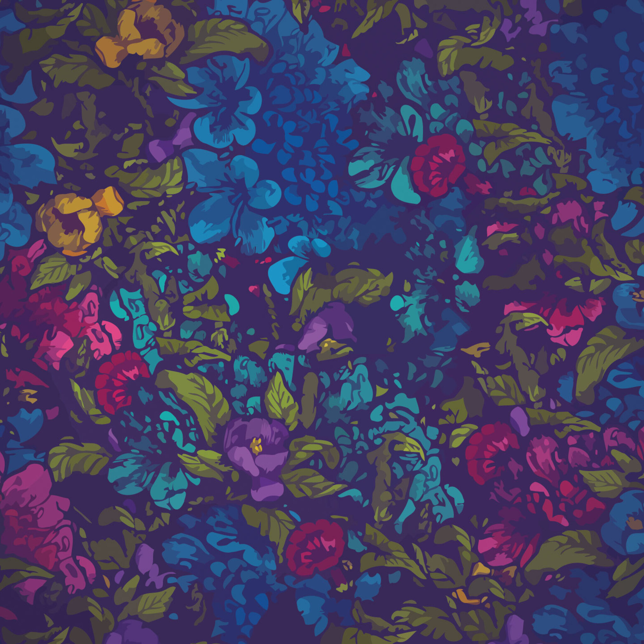 2048x2048 Floral Pattern Abstract Ipad Air Hd 4k Wallpapers