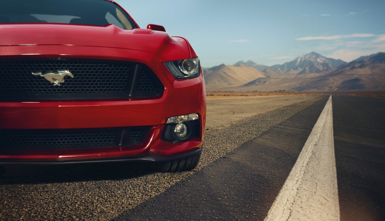1336x768 Ford Mustang Gt Red Front Muscle Car Laptop Hd Hd 4k