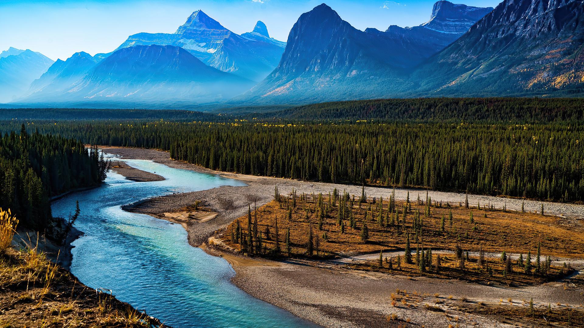 1920x1080 Forest Landscape Mountain Nature River Scenic 4k ...