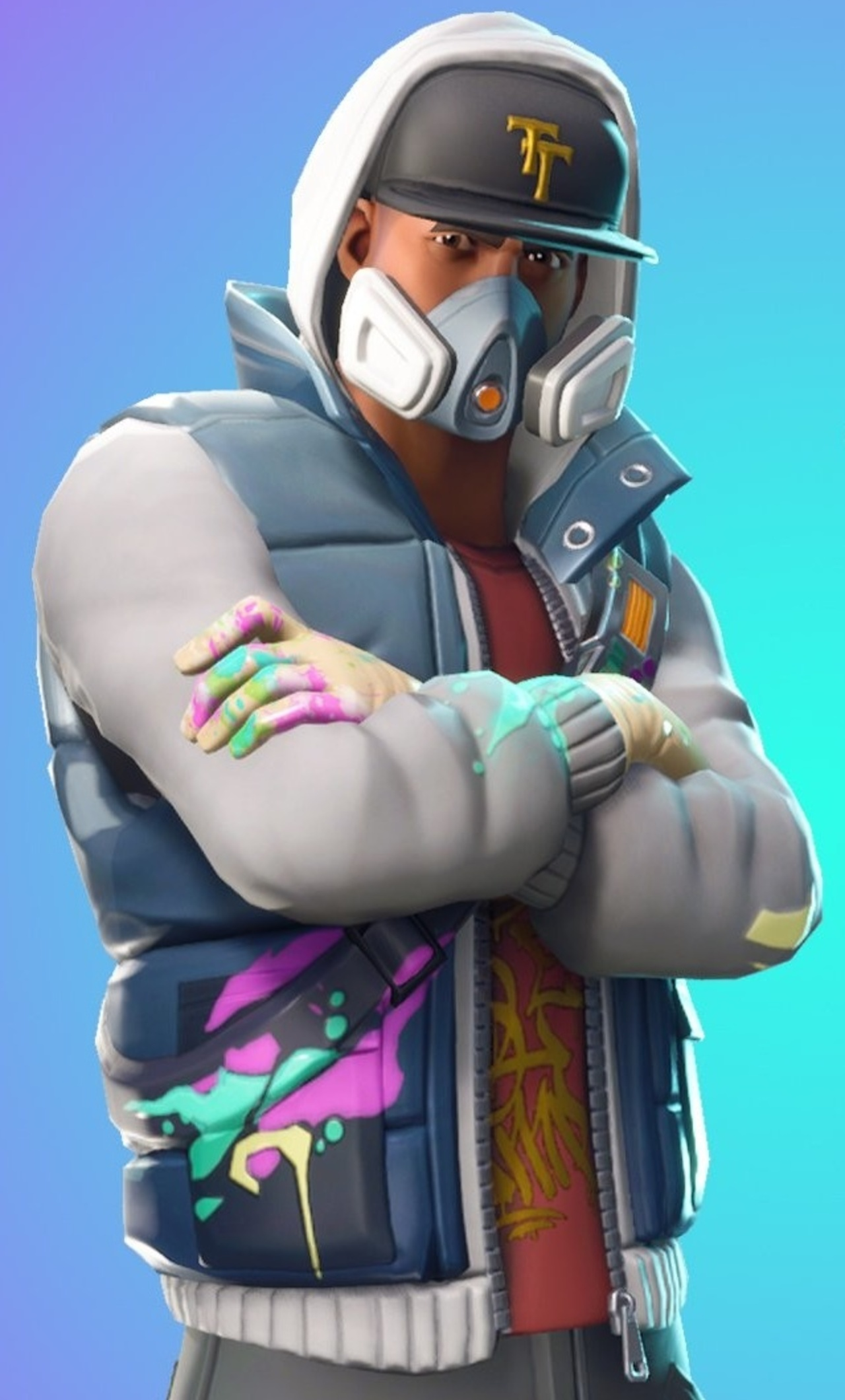 1280x2120 Fortnite Battle Royale Abstrakt Skin Artwork