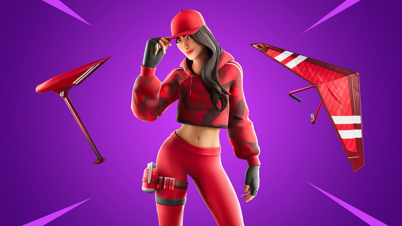 1366x768 Fortnite Chapter 2 Ruby Outfit 4k 1366x768