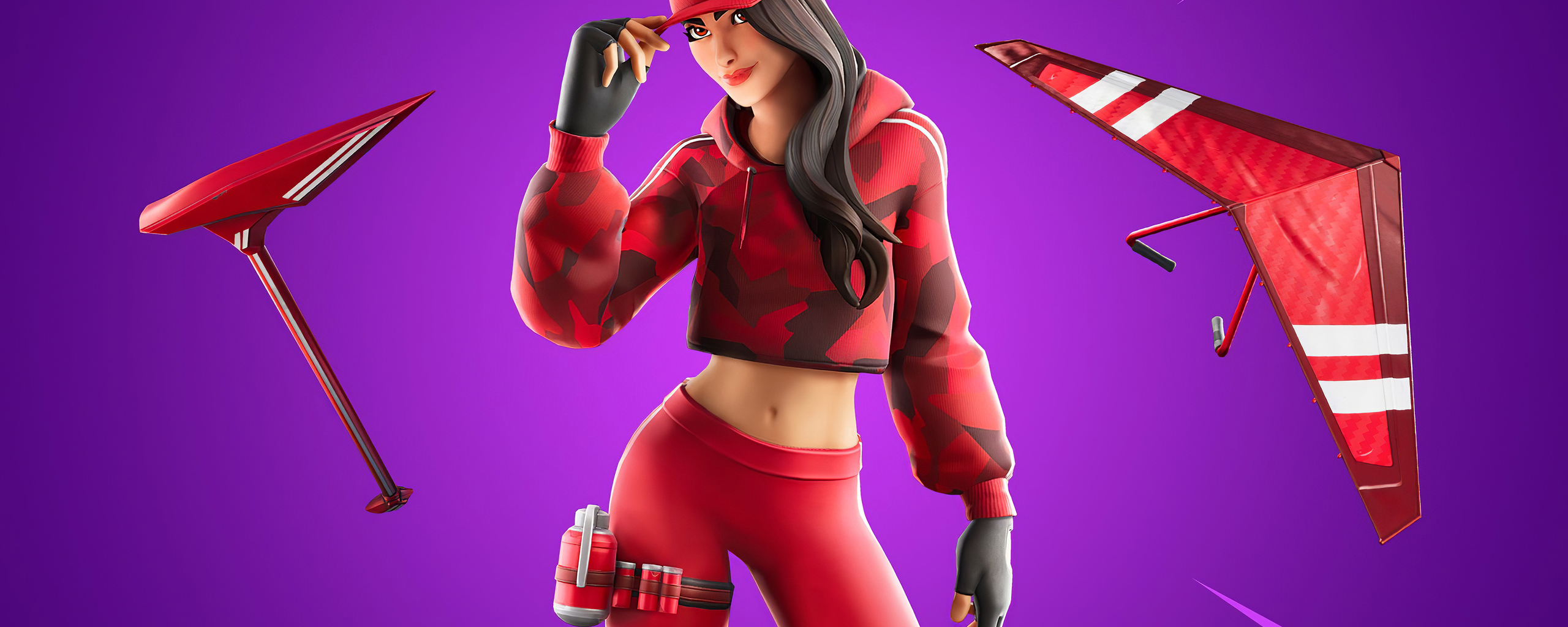 2560x1024 Fortnite Chapter 2 Ruby Outfit 4k 2560x1024 Resolution Hd 4k Wallpapers Images Backgrounds Photos And Pictures