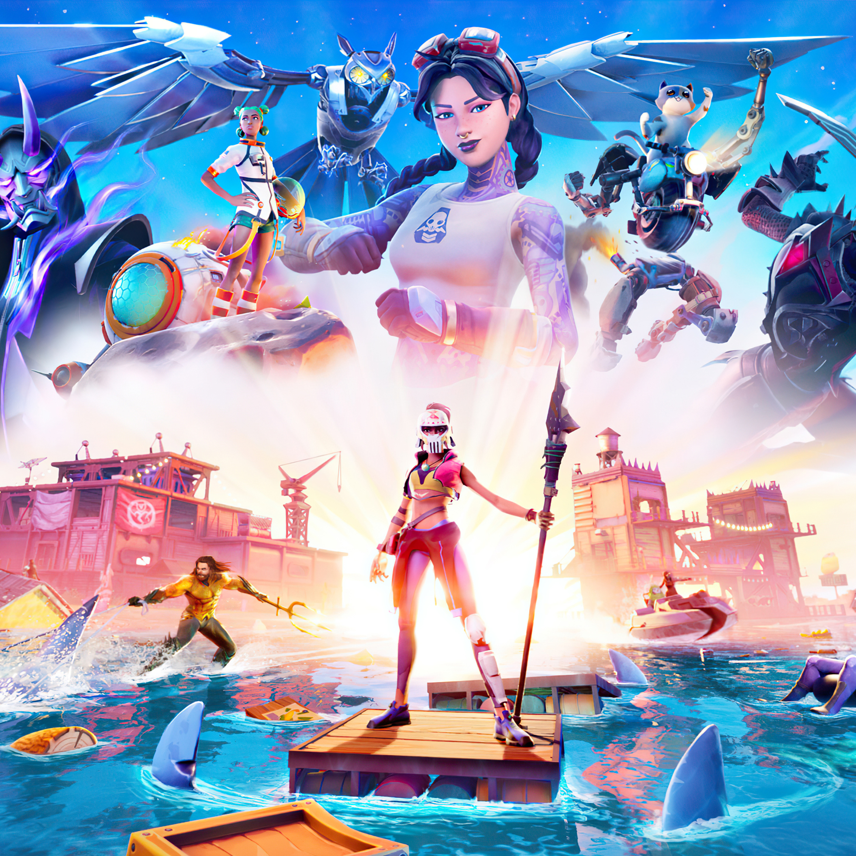 2932x2932 Fortnite Chapter 2 Season 3 Ipad Pro Retina Display Hd 4k Wallpapers Images Backgrounds Photos And Pictures