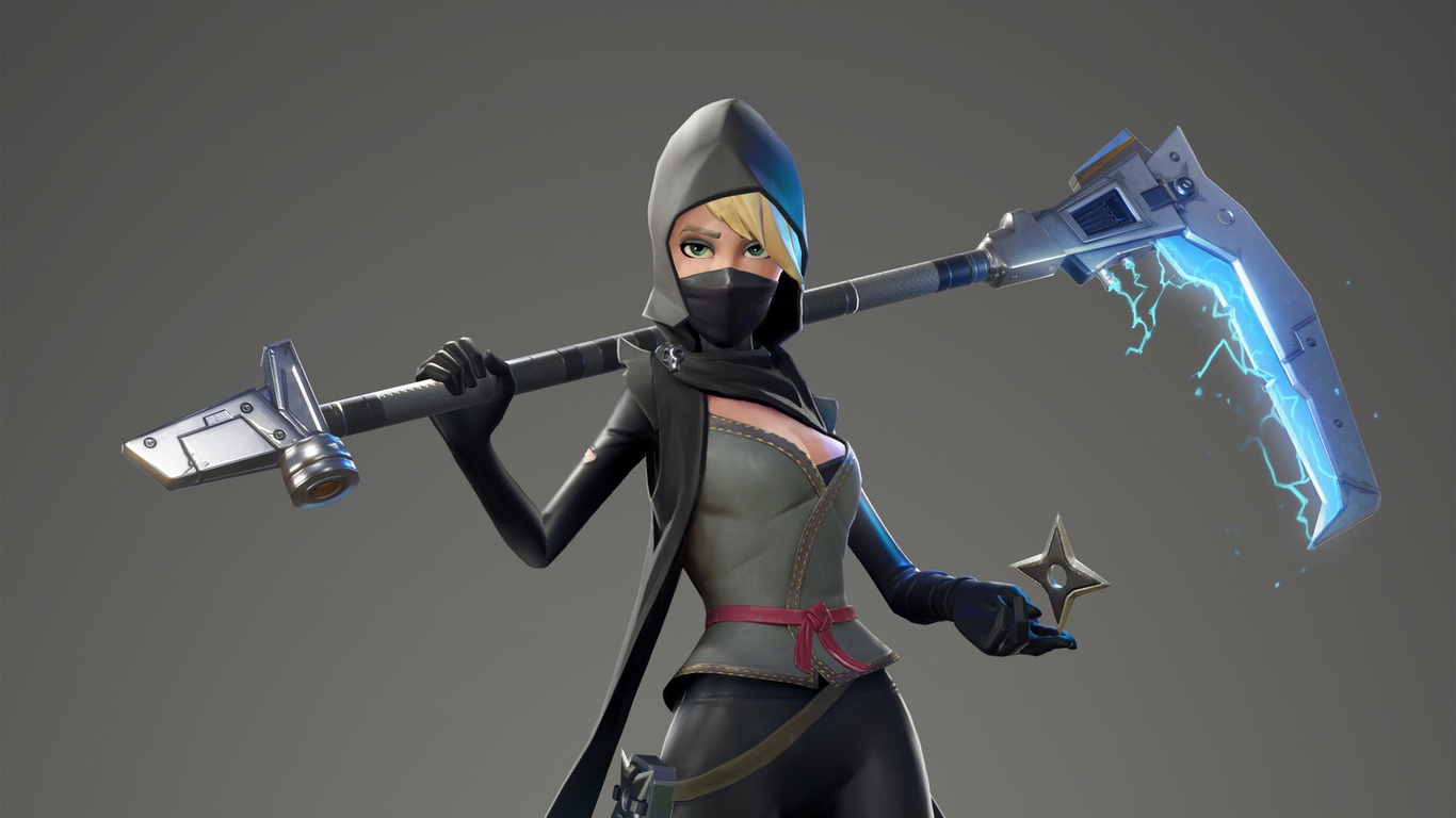 1366x768 fortnite female ninja 1366x768 resolution hd 4k for Fond ecran fortnite