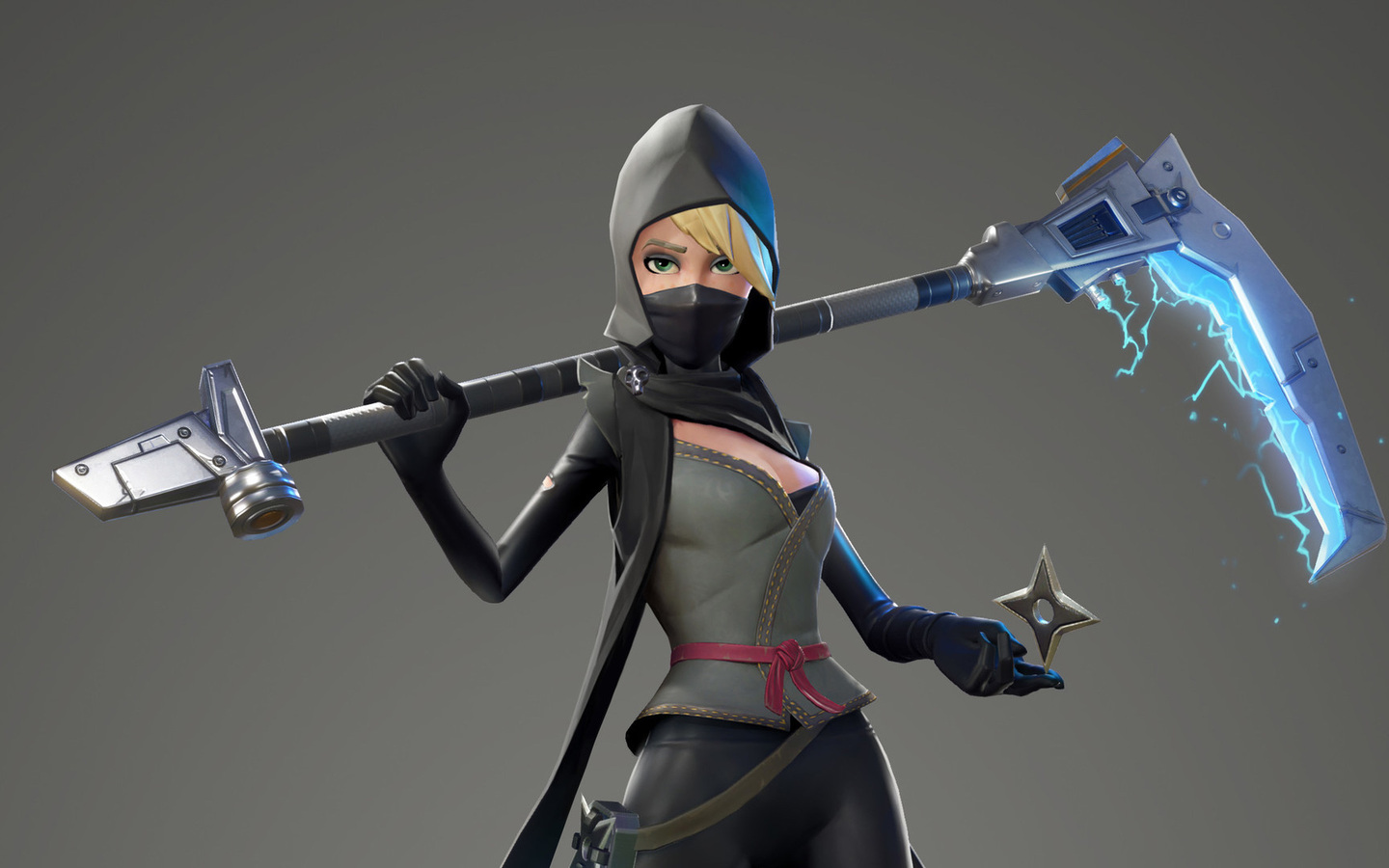 fortnite wallpaper 1440x900: 1440x900 Fortnite Female Ninja 1440x900 Resolution HD 4k