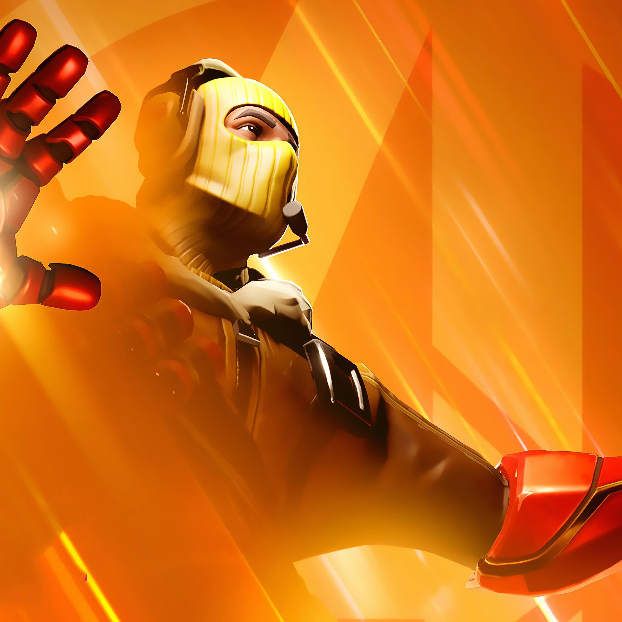 2048x2048 Fortnite Raptor Iron Man Avengers Endgame Ipad