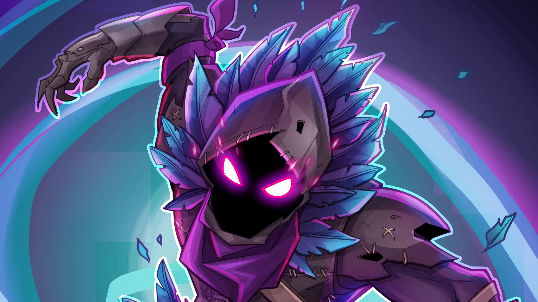 2048x1152 Fortnite Raven Fan Art 2048x1152 Resolution HD