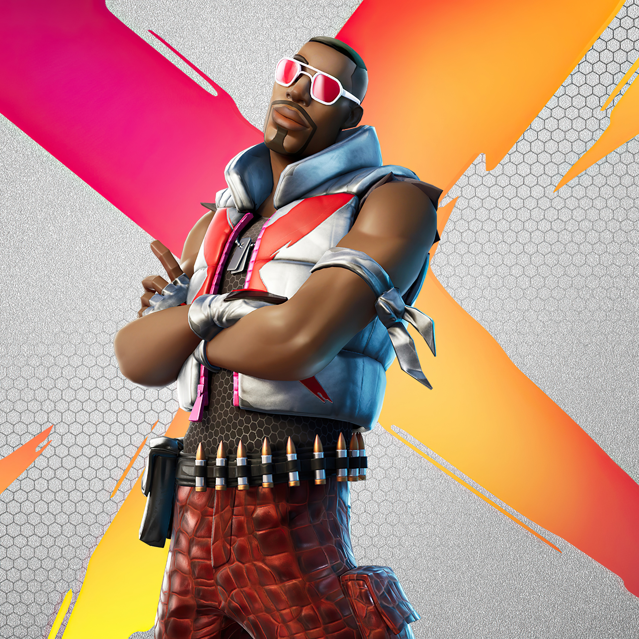 2048x2048 Fortnite Wild Gunner Outfit 4k Ipad Air HD 4k