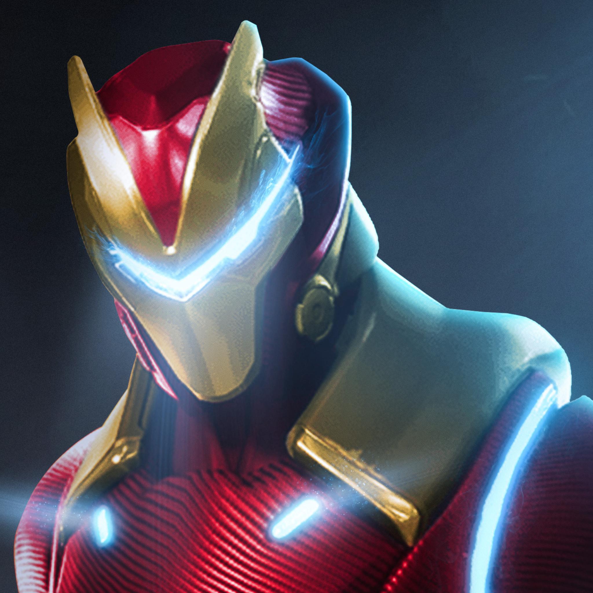 2048x2048 Fortnite X Marvel Iron Man Ipad Air Hd 4k Wallpapers
