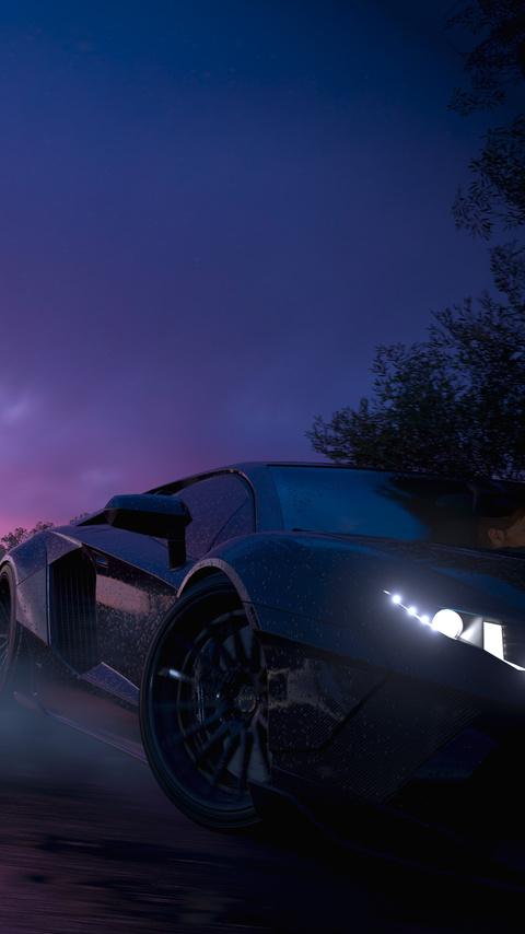 480x854 Forza Horizon 3 4k Lamborghini Aventador Android One