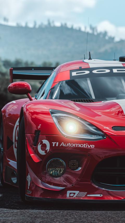 480x854 Forza Horizon 3 Dodge Viper Srt Muscle Car 4k