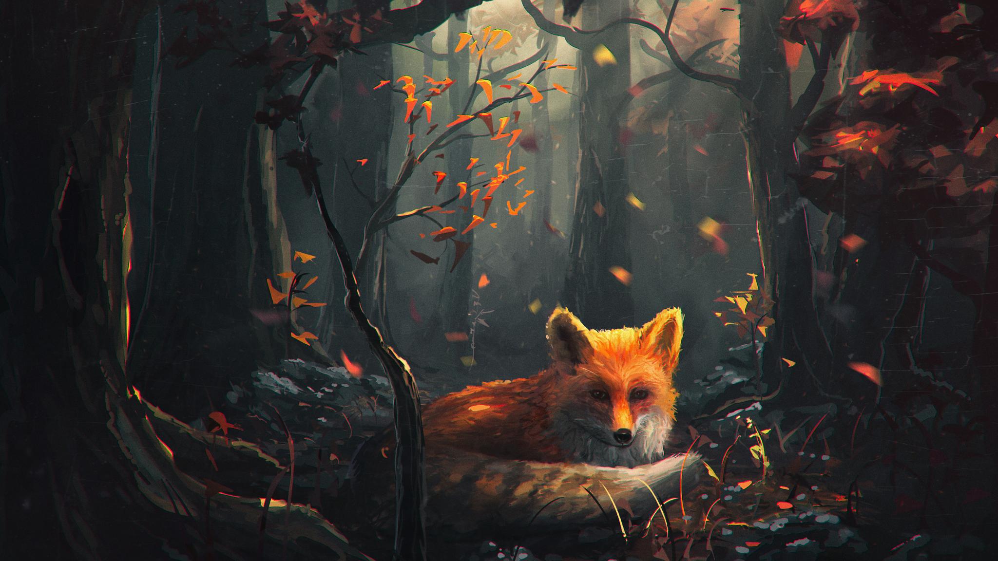 2048x1152 fox art 2048x1152 resolution hd 4k wallpapers