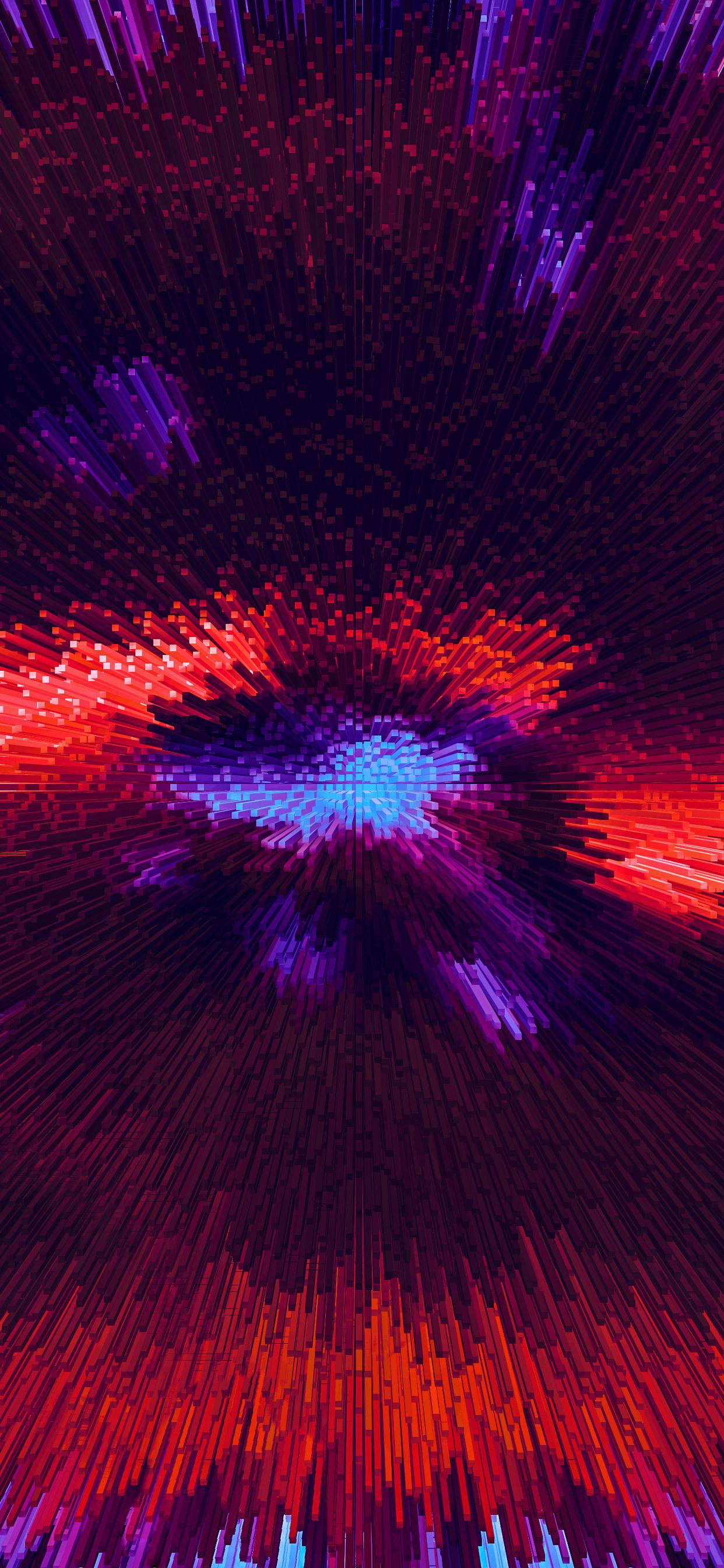 1242x2688 Fractal Shapes Pipes 3d Digital Art Abstract 4k ...