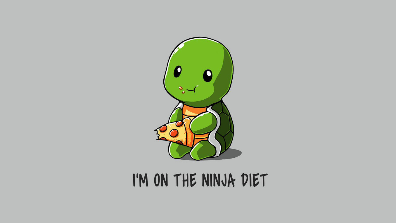 1360x768 Funny Ninja On Diet Laptop Hd Hd 4k Wallpapers Images Backgrounds Photos And Pictures