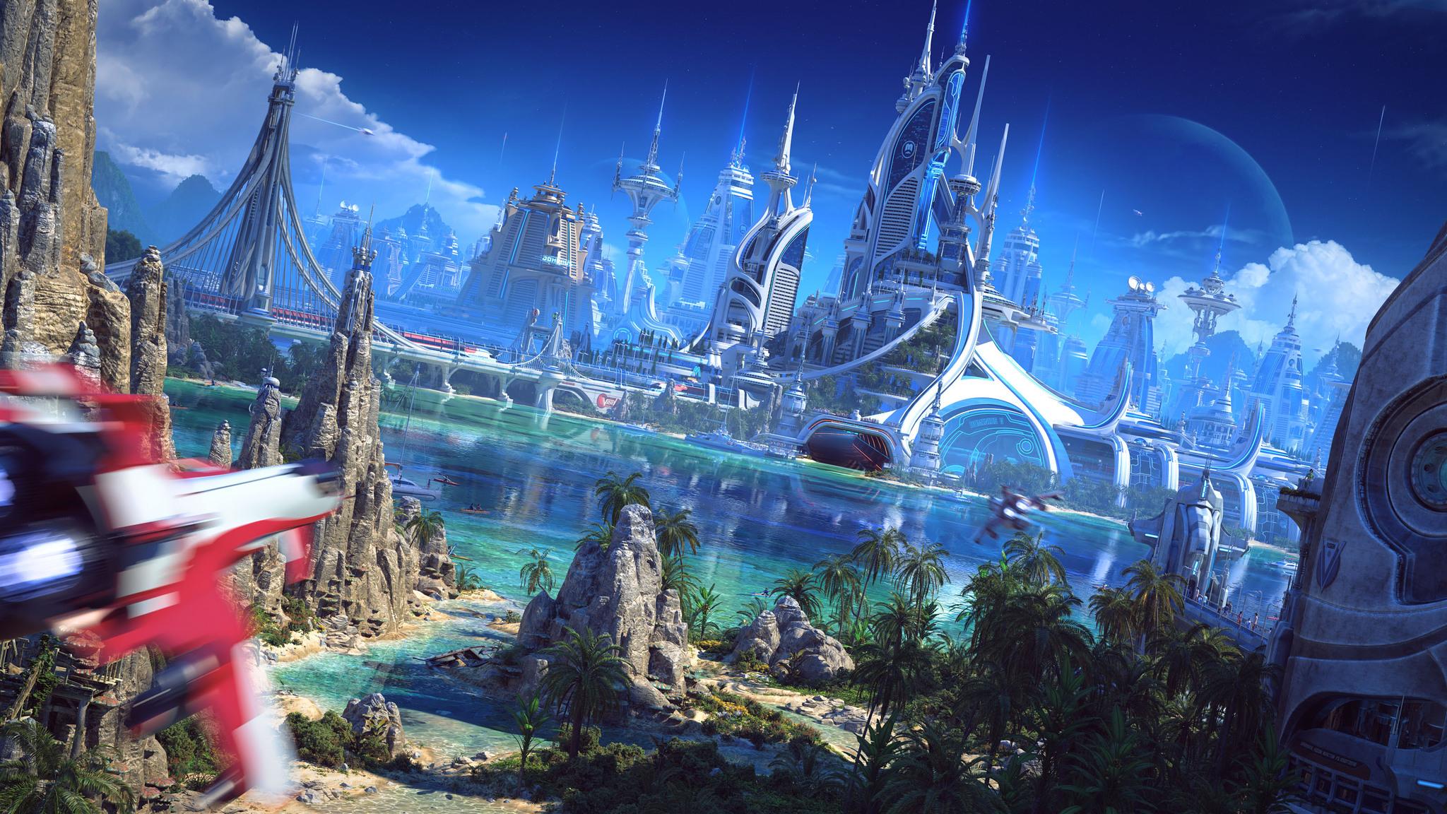 2048x1152 Futuristic World 2048x1152 Resolution HD 4k