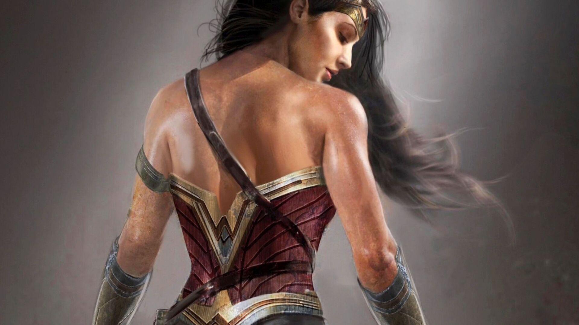 Wonder Woman 4k 8k Movie Wallpapers: 1920x1080 Gal Gadot Wonder Woman Artwork Laptop Full HD
