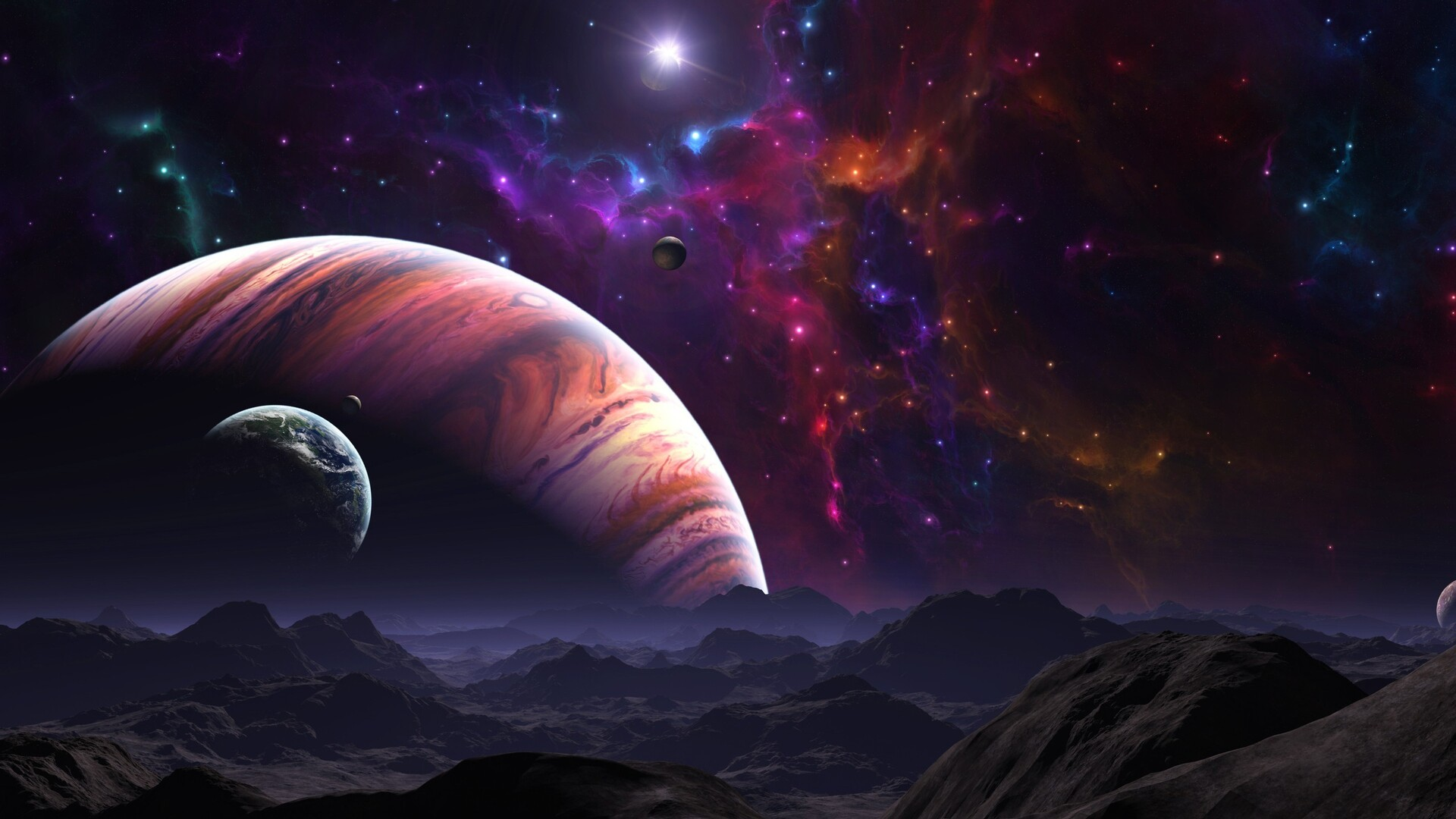 1920x1080 Galaxy Space Fantasy Science Fiction Laptop Full