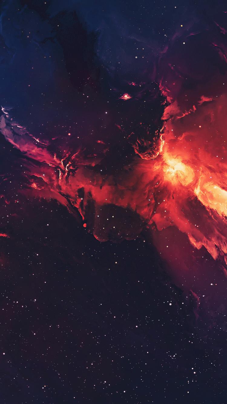 750x1334 Galaxy Space Stars Universe Nebula 4k iPhone 6, iPhone 6S, iPhone 7 HD 4k Wallpapers ...