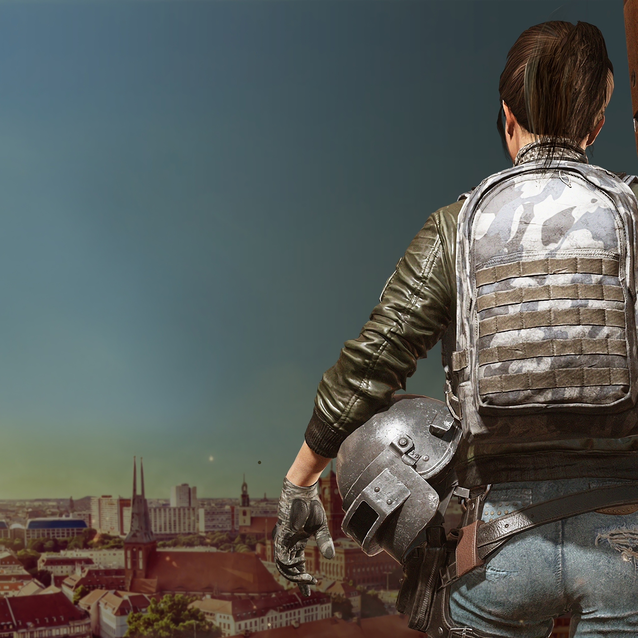 2048x2048 Game Girl Pubg 4k Ipad Air HD 4k Wallpapers