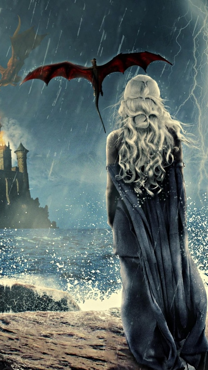 720x1280 Game Of Thrones Khaleesi Art 4k Moto Gx Xperia Z1z3