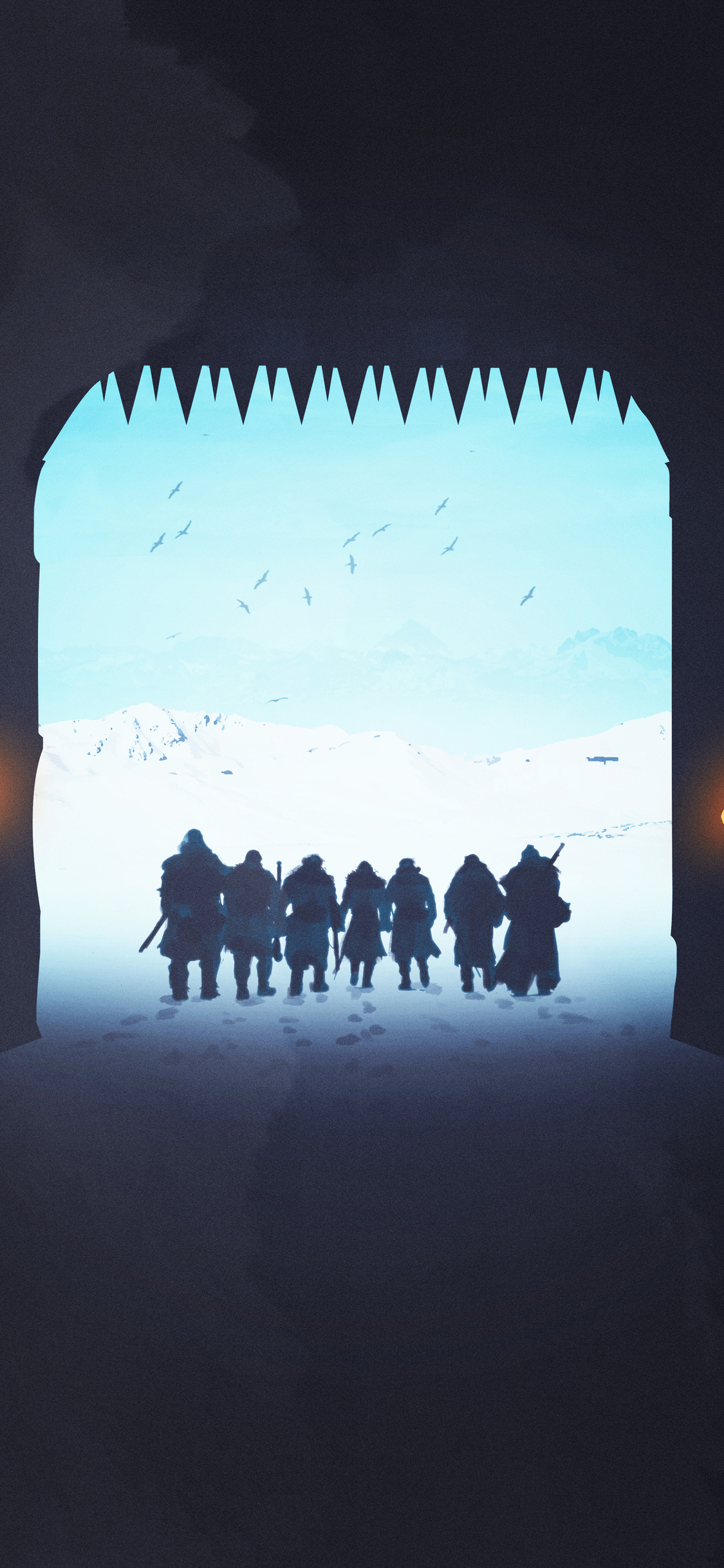 1125x2436 Game Thrones Night Watch The Wall Iphone X Iphone 10 HD