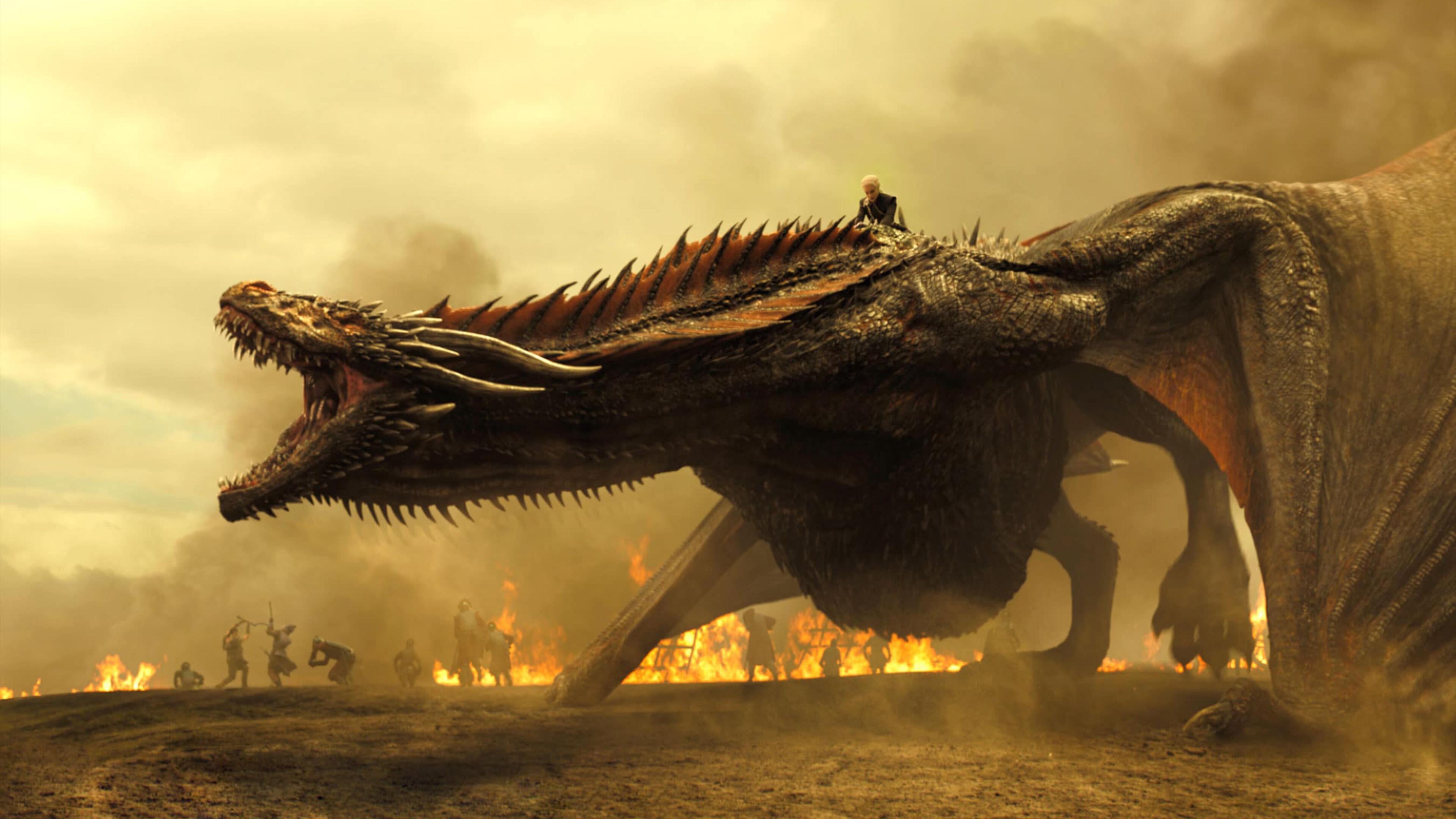 Обои для рабочего стола дракон игра престолов