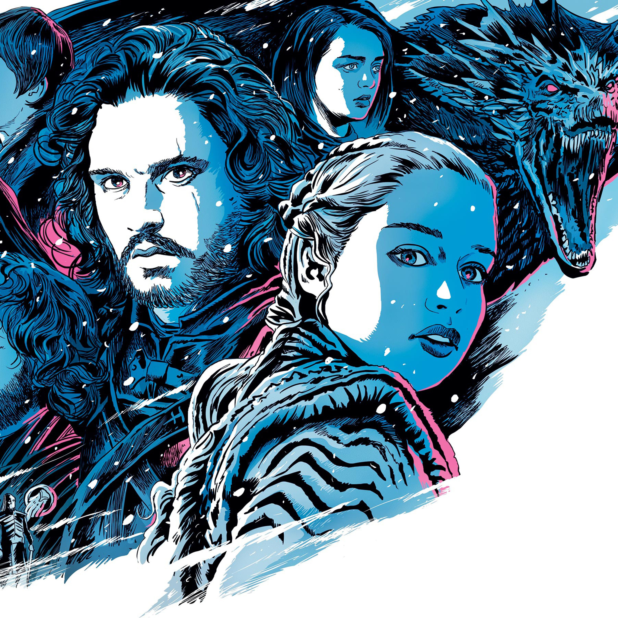 2048x2048 Game Of Thrones Season 8 Illustration Ipad Air