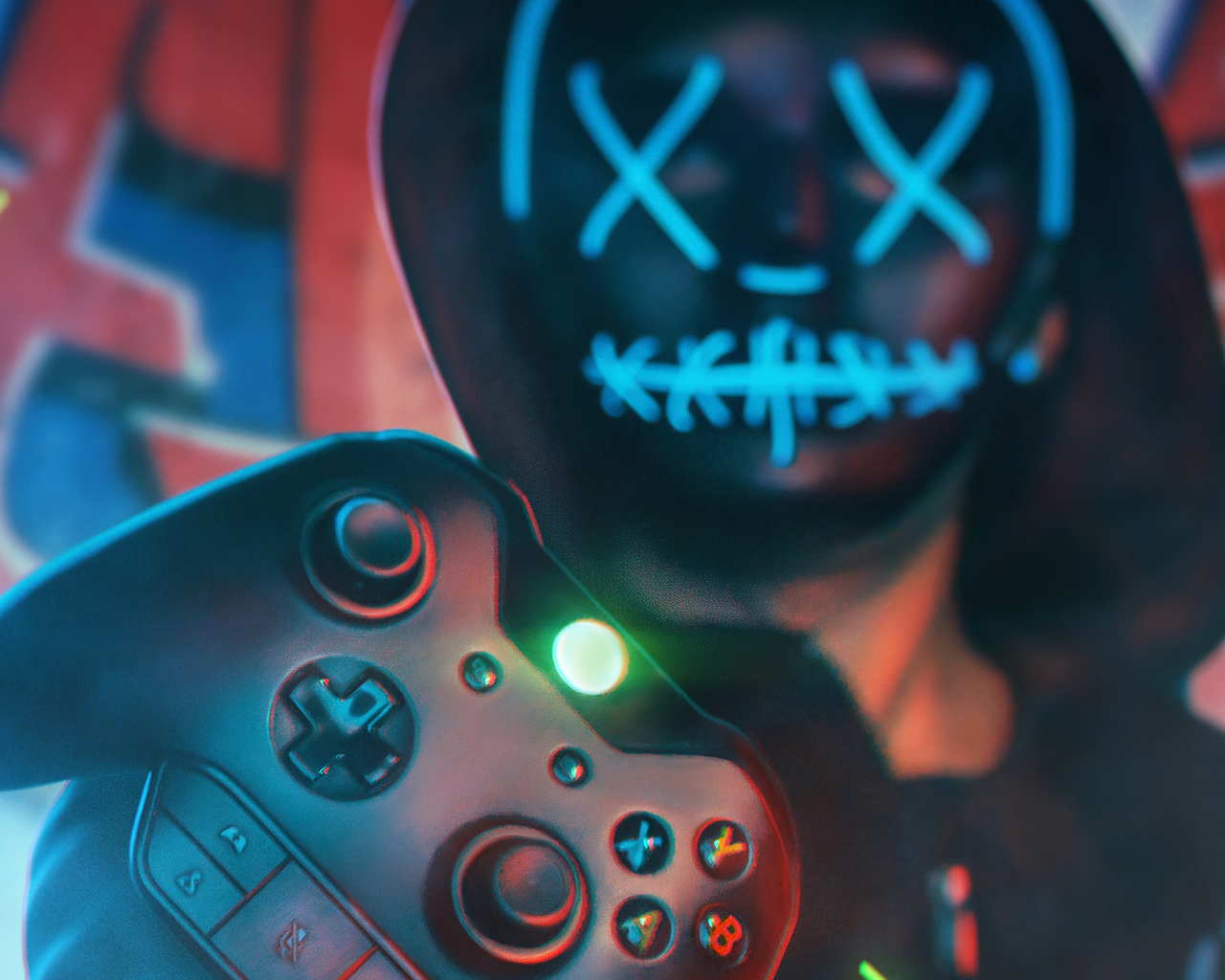 1280x1024 Gamer Boy Mask 4k 1280x1024 Resolution Hd 4k Wallpapers Images Backgrounds Photos And Pictures