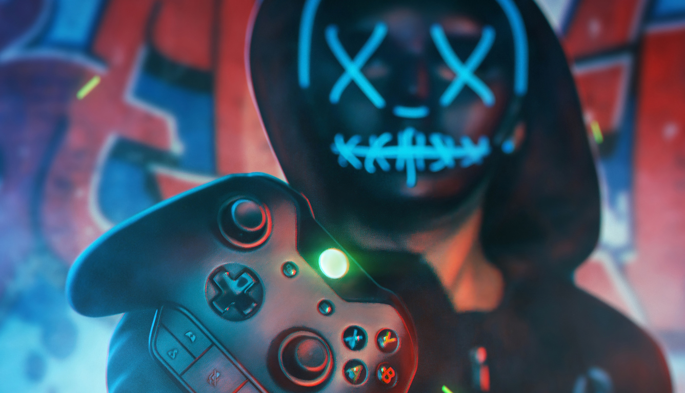 1336x768 Gamer Boy Mask 4k Laptop Hd Hd 4k Wallpapers Images Backgrounds Photos And Pictures