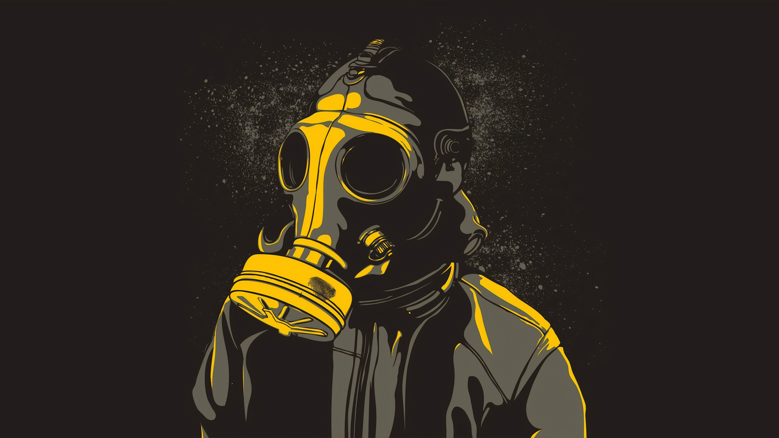 2560x1440 Gas Mask Guy 1440p Resolution Hd 4k Wallpapers