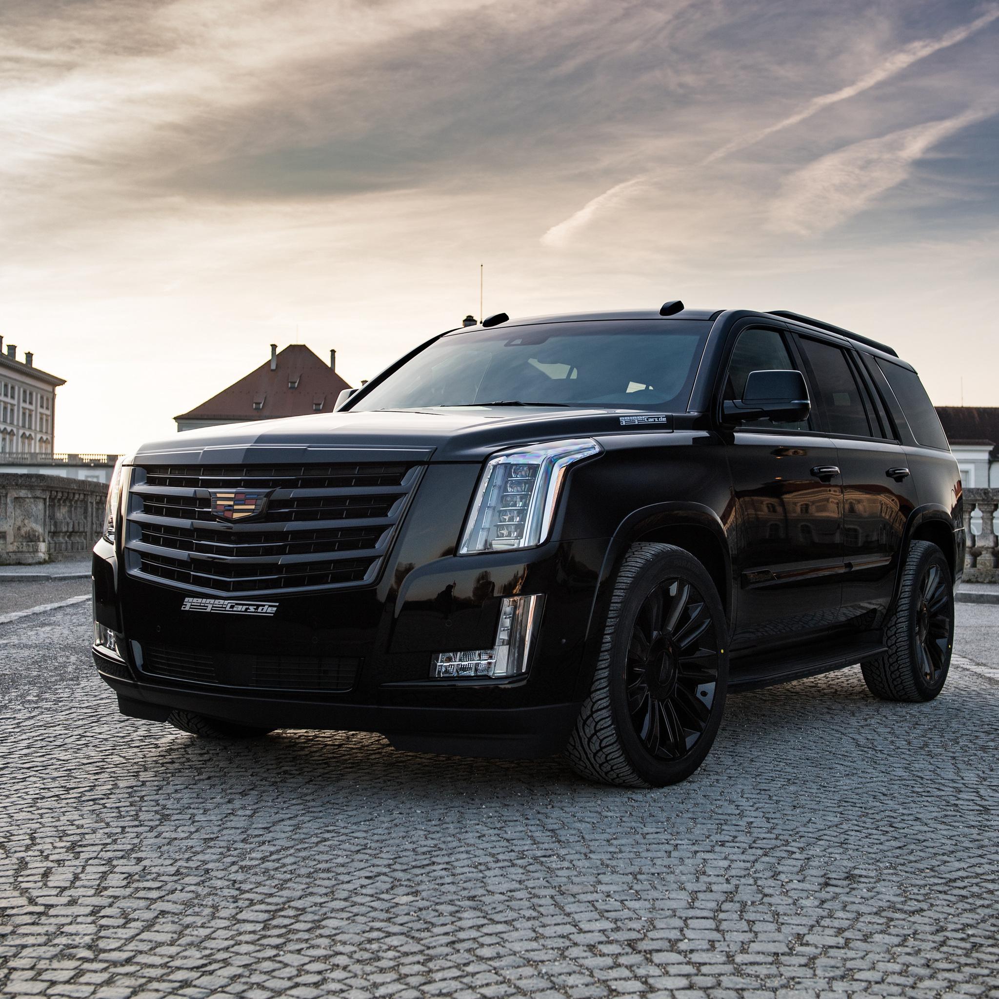 2048x2048 Geiger Cadillac Escalade Black Edition 2018 Ipad